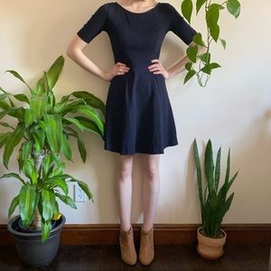 J. Crew Navy Fit and Flare A-Line Dress
